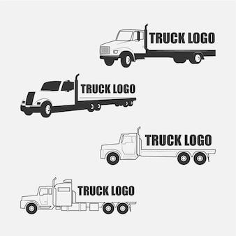 Coleção do logotipo do caminhão
