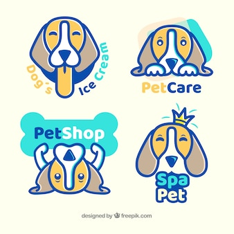 Coleção do logotipo do cão