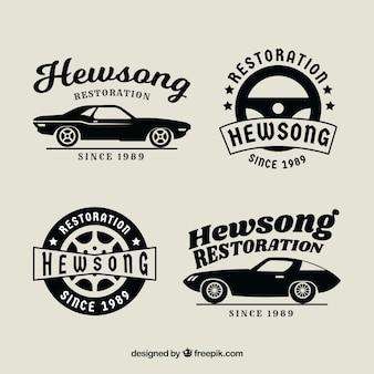 Coleção do logotipo do carro vintage