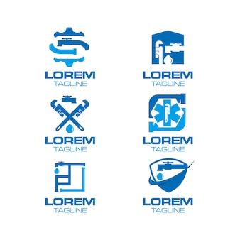 Coleção do logotipo do encanamento