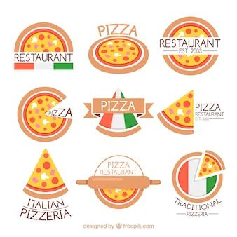 Coleção do logotipo do restaurante italiano