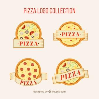 Coleção do logotipo do restaurante pizza