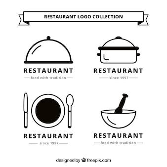 Coleção do logotipo do resturant