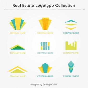 Coleção do logotipo dos bens imobiliários