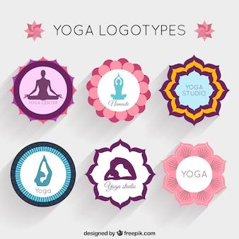 Coleção do logótipo yoga