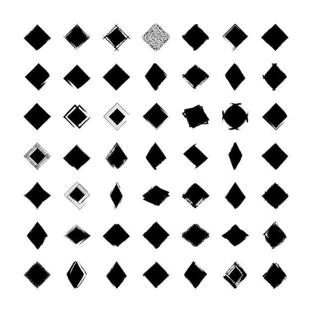 Coleção do losango texturizado