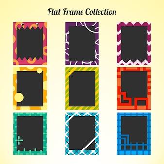 Coleção do quadro polaroid plana