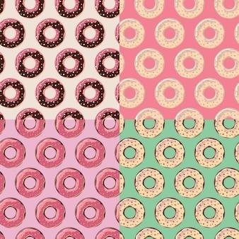 Coleção do teste padrão donuts