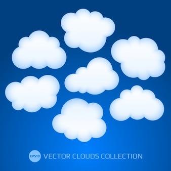 Coleção do vetor nuvens