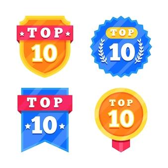 Coleção dos 10 melhores emblemas
