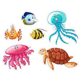 Coleção dos animais sealife