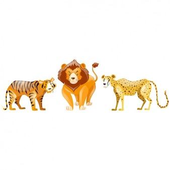 Coleção dos animais selvagens