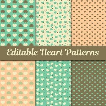 Coleção dos corações padrões