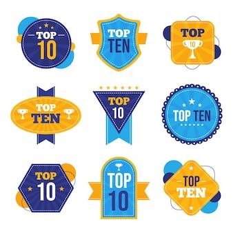Coleção dos dez melhores emblemas