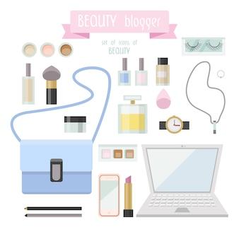 Coleção dos elementos de beleza