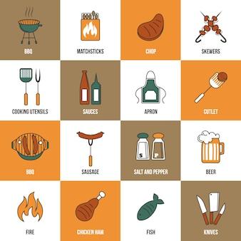 Coleção dos elementos de cozinha