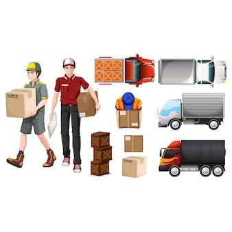 Coleção dos elementos de entrega