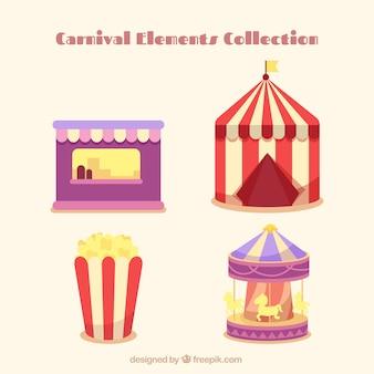 Coleção dos elementos do carnaval