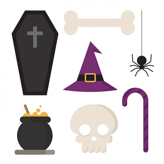 Coleção dos elementos do haloween