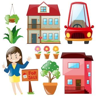 Coleção dos elementos do imobiliário