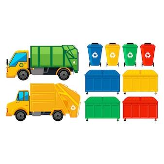 Coleção dos elementos do lixo