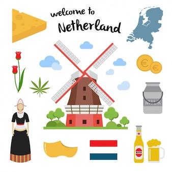 Coleção dos elementos do netherland