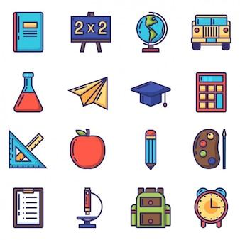 Coleção dos ícones da escola