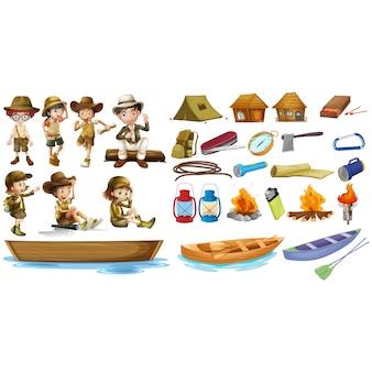 Coleção dos ícones de aventura