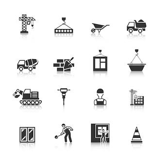 Coleção dos ícones de construção
