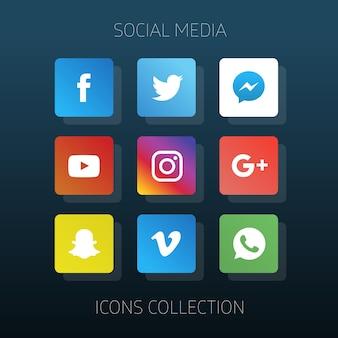 Coleção dos ícones de mídia social