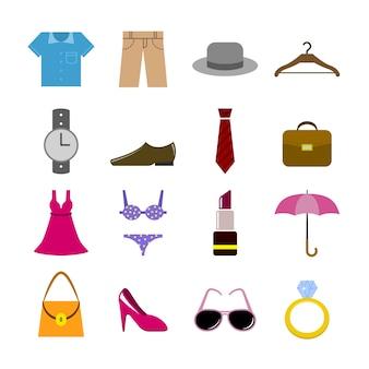 Coleção dos ícones de moda