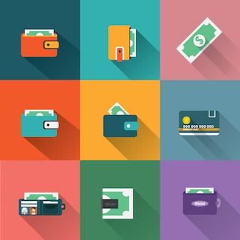 Coleção dos ícones de pagamento