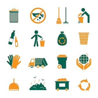 Coleção dos ícones de reciclagem