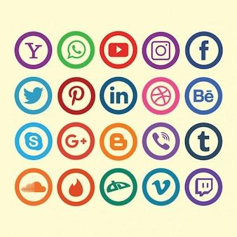 Coleção dos ícones de redes sociais