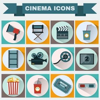 Coleção dos ícones do cinema