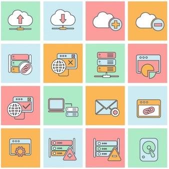 Coleção dos ícones do computador