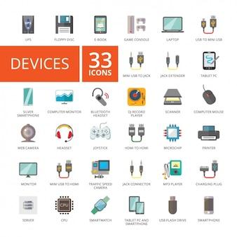 Coleção dos ícones do dispositivo