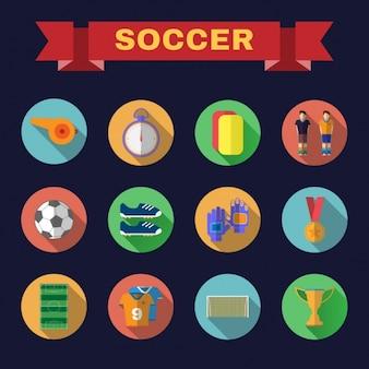 Coleção dos ícones do futebol