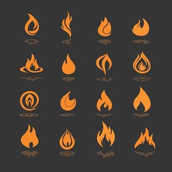 Coleção dos ícones do incêndio
