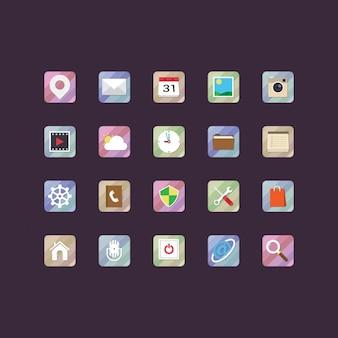 Coleção dos ícones do multimedia
