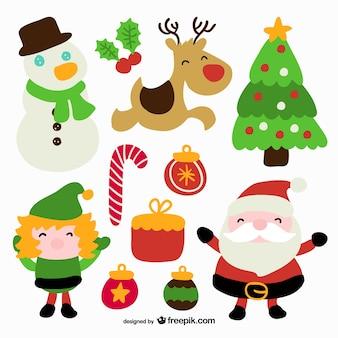 Coleção dos ícones do natal