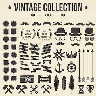 Coleção dos ícones do vintage