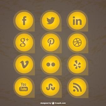 Coleção dos ícones gratuitos de mídia social