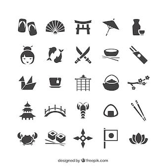 Coleção dos ícones japoneses