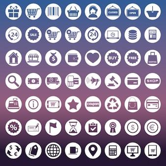 Coleção dos ícones para e-commerce