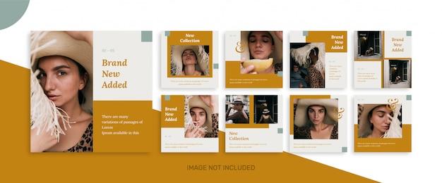 Coleção e venda de modelo de postagem de mídia social