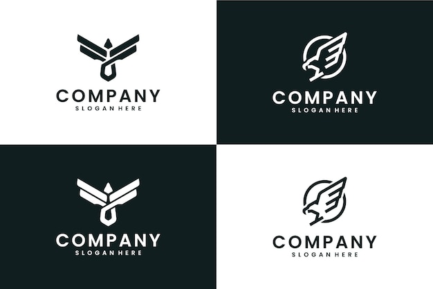 Coleção eagle, inspiração para design de logotipo