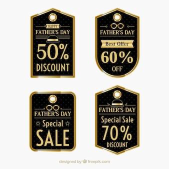 Coleção elegante da etiqueta da venda do dia dos pais