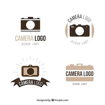 Coleção elegante de logotipo da câmera