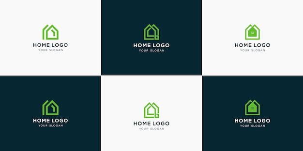 Coleção elegante de logotipo de imóveis